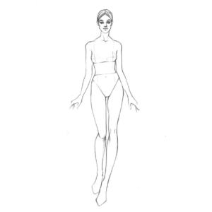 Шаблон для fashion иллюстрации - женская фигура