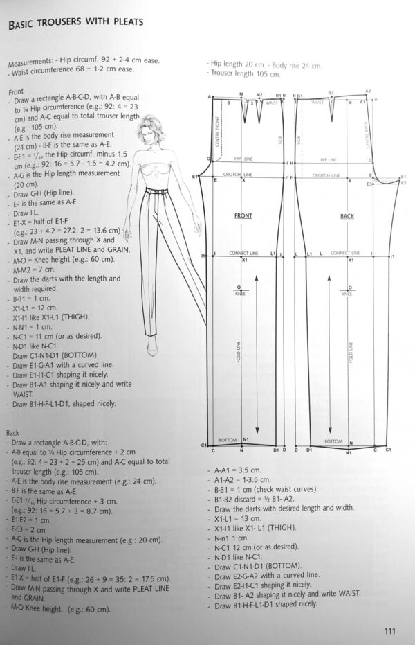 Fashion Patternmaking Techniques. [ Vol. 1 ]: How to Make Skirts, Trousers and Shirts. fvdesign.org