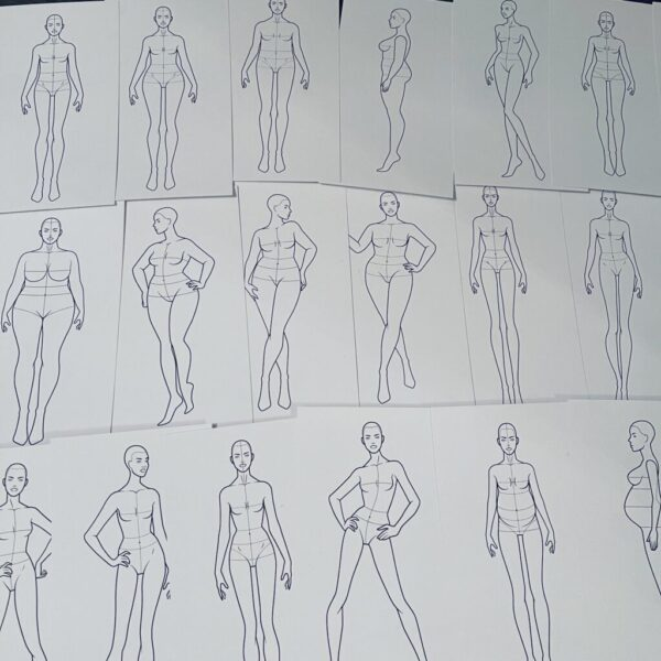 Шаблоны фигур для дизайна одежды