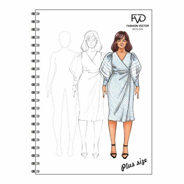 Скетчбук A5 fashion illustrtaion - Plus size fvdesign.org