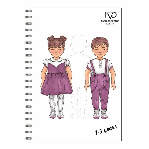 Скетчбук A5 дети 1-3 года fvdesign.org